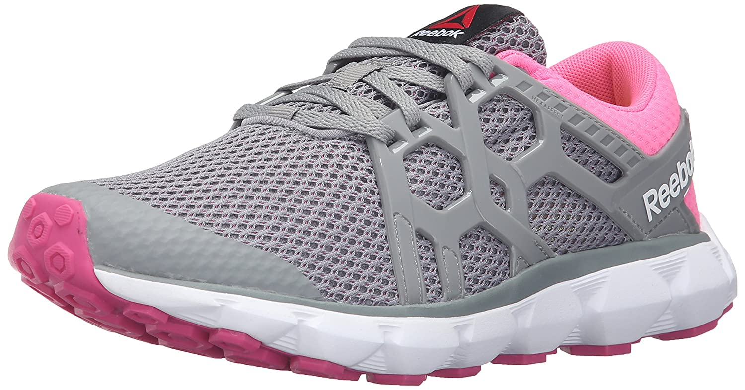 Amazon.com | Reebok Womens Hexaffect Run 4.0 MU MTM Walking Shoe, Flat Grey/Poison Pink/Rose Rage/White/Solar Yellow, 6 M US | Walking