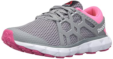 fff770b1c9e Reebok Women s Hexaffect Run 4.0 MU MTM Walking Shoe Flat Grey Poison  Pink Rose