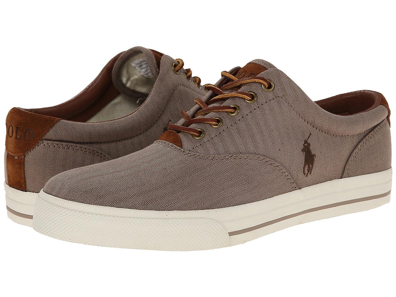[Polo Ralph Lauren(ポロラルフローレン)] メンズカジュアルシューズスニーカー靴 Vaughn Dark Khaki Chambray Herringbone/Sport Suede 8 (26.5cm) M B07DC943W6