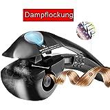ACEVIVI Dampf Anion Lockenstab Curler Lockendreher Curl mit EU Stecker LCD Schwarz,pro-C