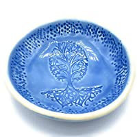 B JANECKA Tree of Hearts Bowl, Artisan Crafted in USA, Pottery 9th Anniversary Gift