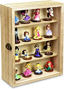Ikee Design Wall Mounted Collectible Display Shelves Case Shadow Box with a Lock and Key for Displaying Your Valuable and Collection, 12 1/4