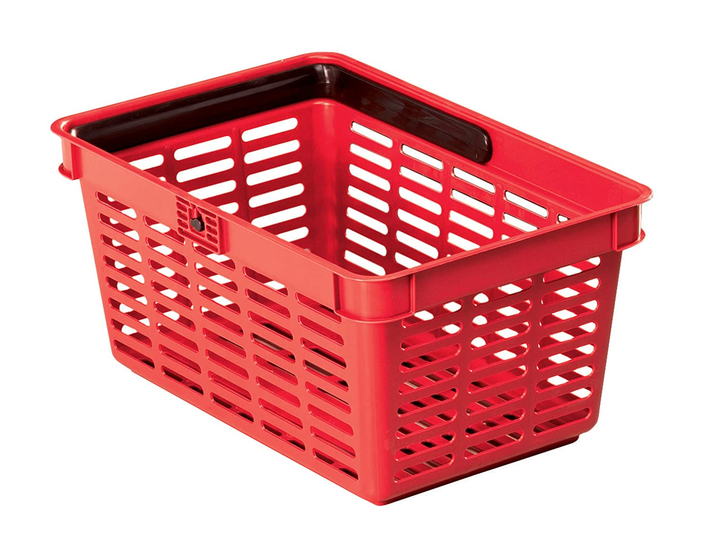 Durable 1801565 Shopping Basket Panier Libre - Service avec Poignée 19 litres Noir 1801565060