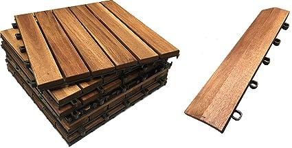 36 x piastrelle in legno 8 stright bordi. il famoso click deck