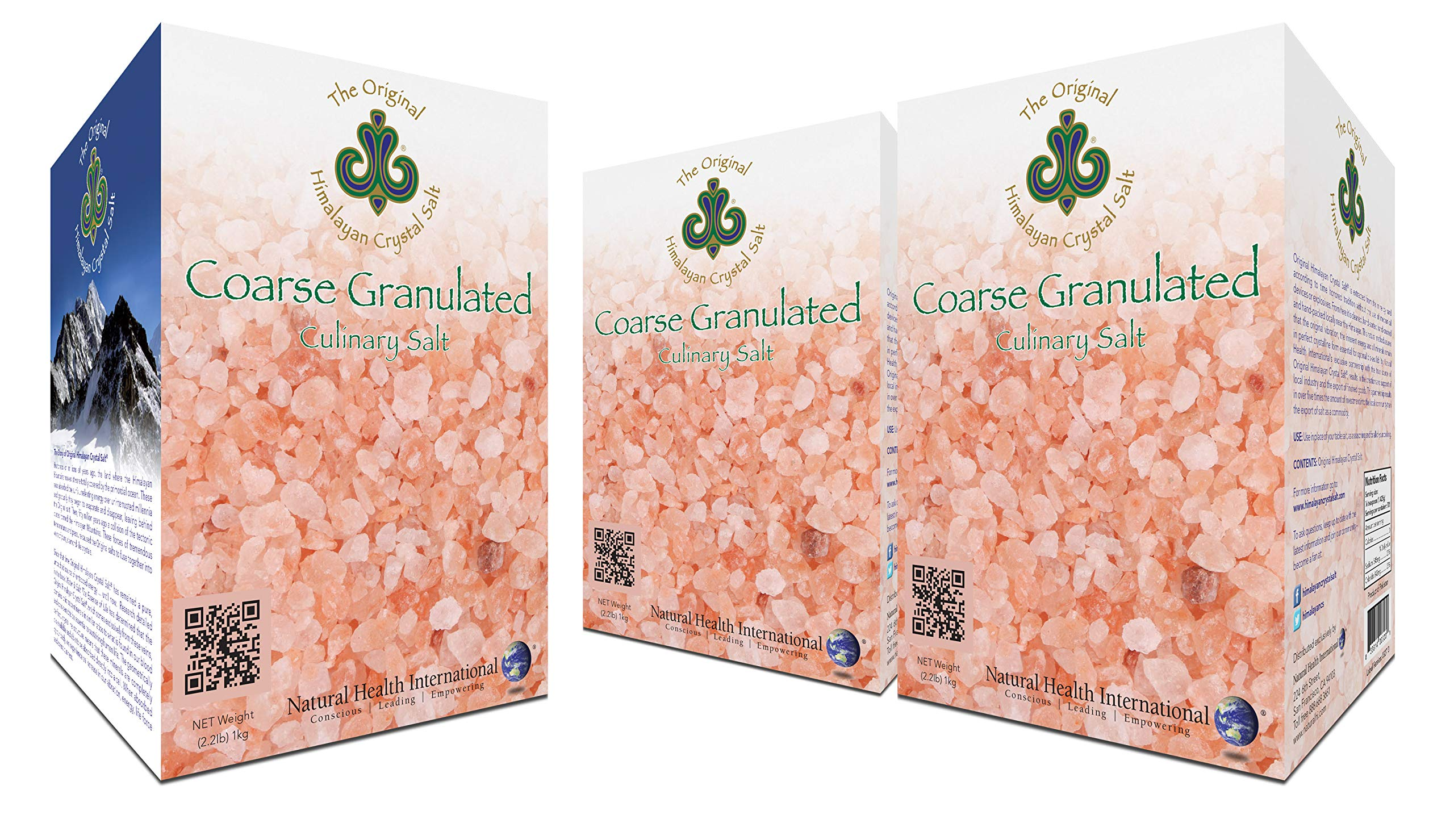 Original Himalayan Crystal Salt - Coarse Granulated - Culinary Salt for Healthy Cooking - Mineral Rich Salt with Great Flavor (3 Pack)