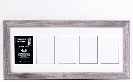 Creative Letter Art Collage 5 4x6 Opening Driftwood Picture Frame With Full Strength Glass And 10x24 White Mat Home Kitchen