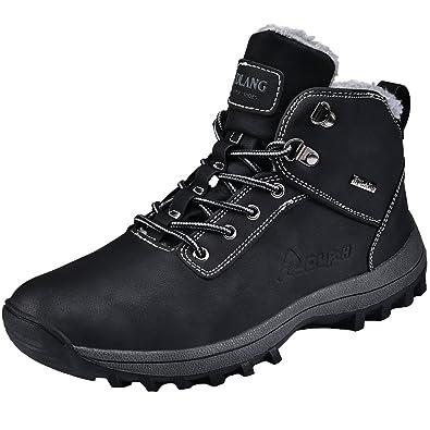 NEOKER Trekkingschuhe Herren Stiefel Wanderschuhe Outdoorschuhe Hiking Schuhe Schwarz 42 ZSf0ymu
