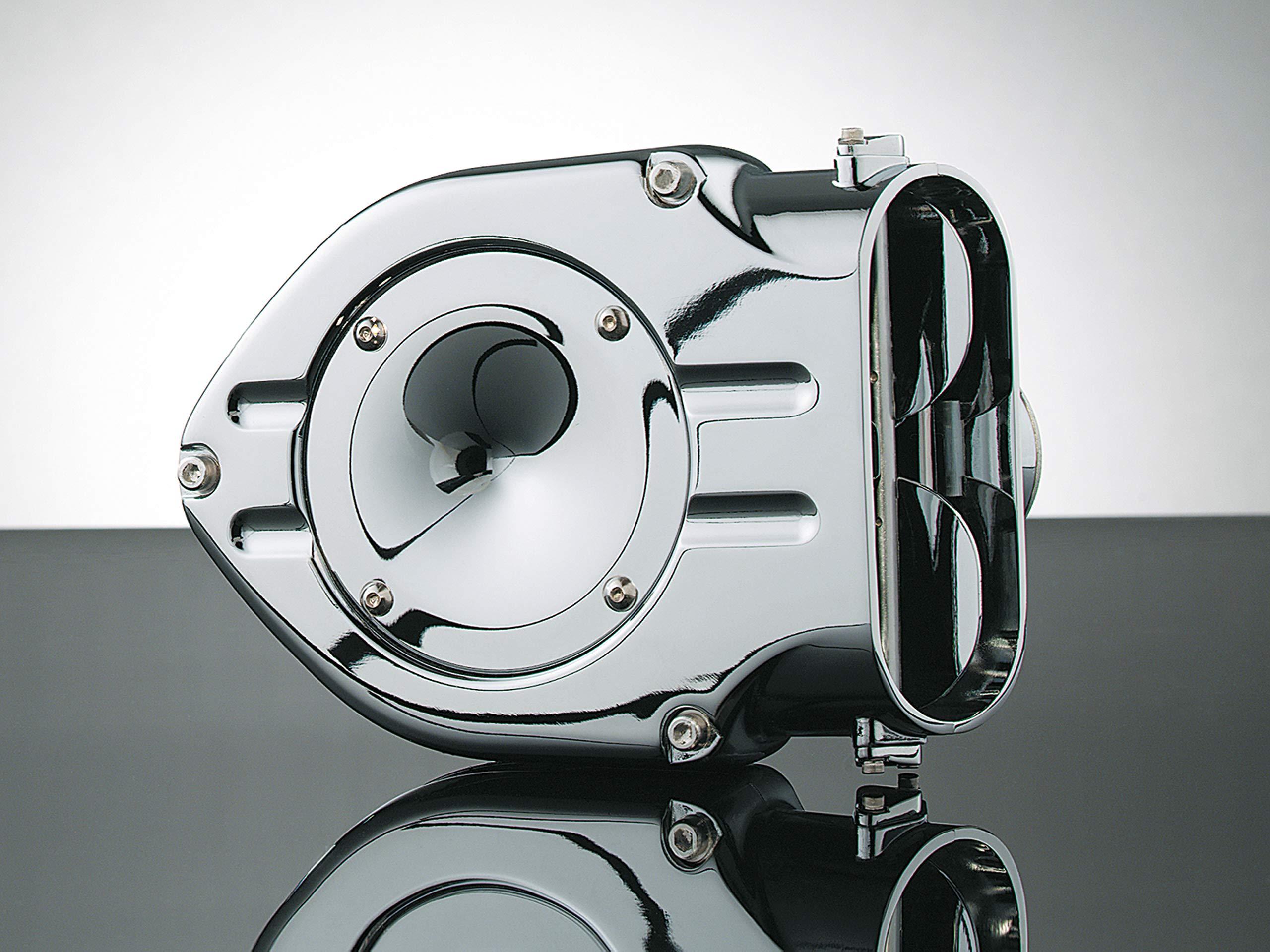 Kuryakyn 9435 Hypercharger Air Cleaner/Filter for Metric Cruisers: 2007-17 Yamaha V Star 1300 Motorcycles, Chrome
