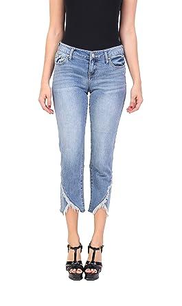 4d20196593e61 Celebrity Pink Women's Fashion Blue Jeans | Ankle Straight | Middle Rise |  Button-Zipper