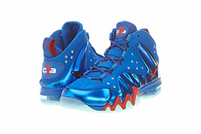 Nike Air Barkley Posite Max 76ers Mens Basketball Shoes 555097-300 Energy  Fire 8 M