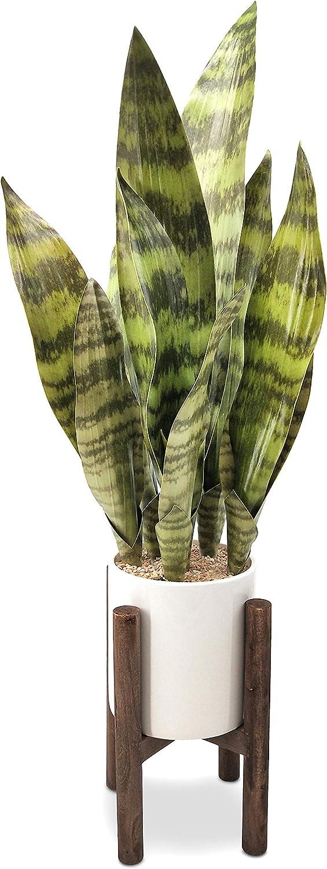 GreenBoxx Artificial Snake Plant Pot, 31