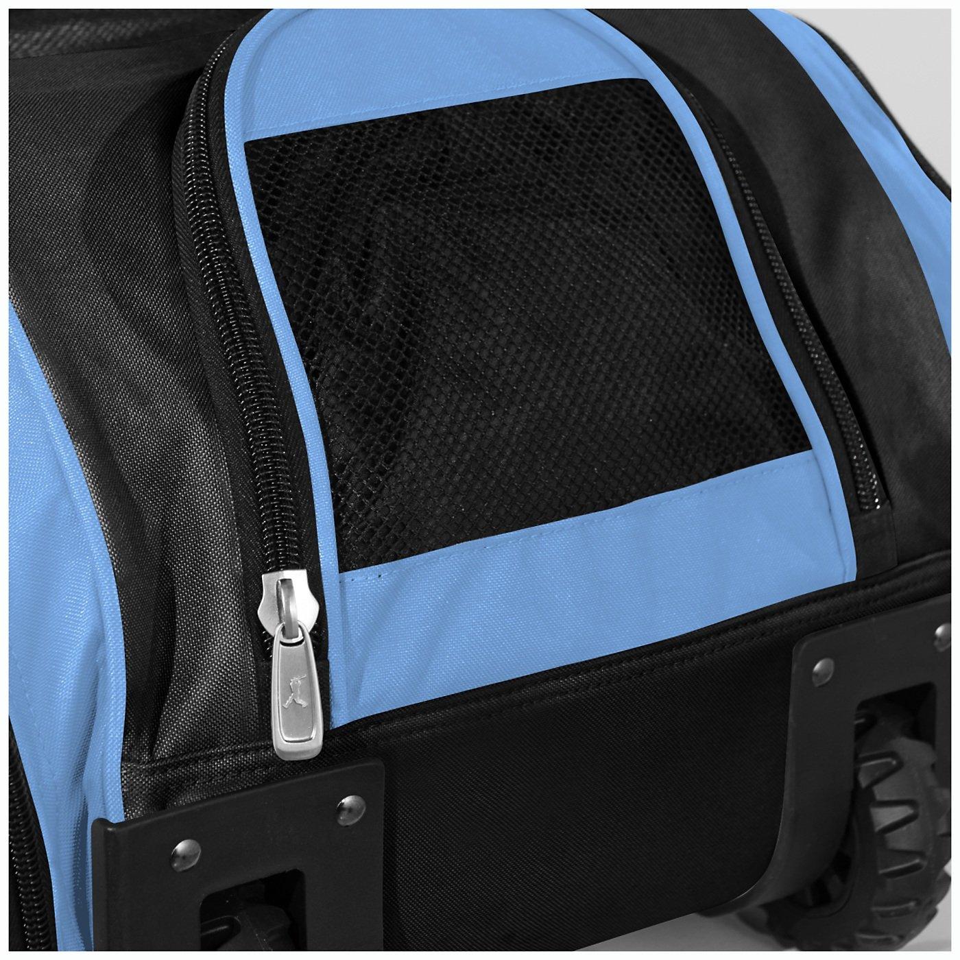 Boombah Beast Baseball/Softball Bat Bag - 40'' x 14'' x 13'' - Black/Columbia Blue - Holds 8 Bats, Glove & Shoe Compartments by Boombah (Image #4)
