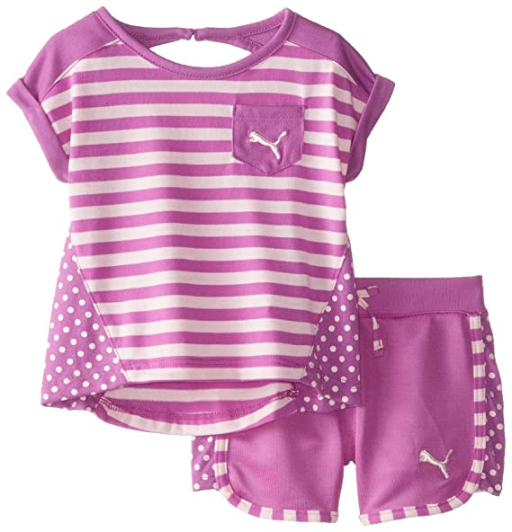 9989c45ec7fd5 PUMA Baby Girls' Stripe Block Short Set