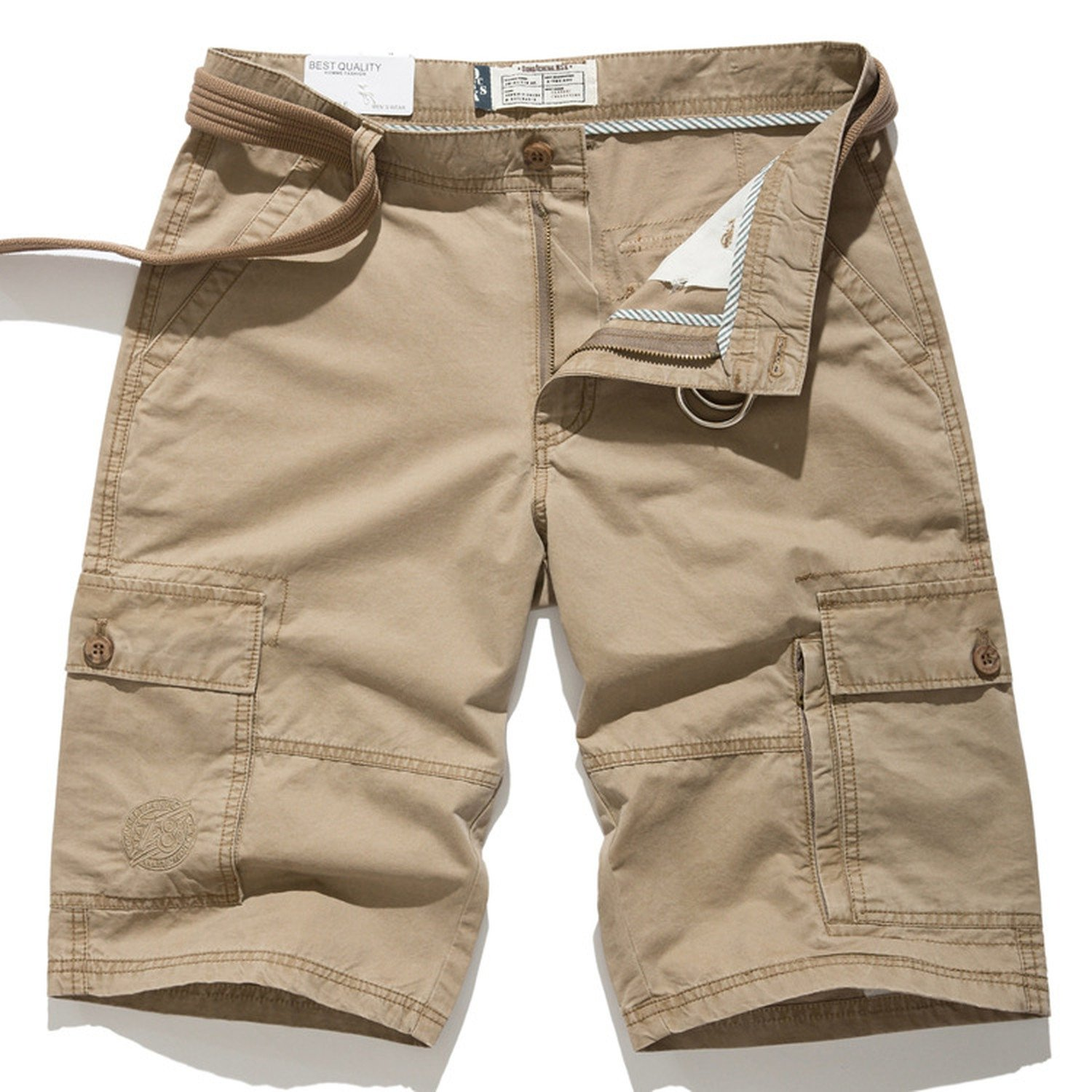 Barry picks Men's Bag Shorts Loose Large Size Men's Casual Pants Trousers,7708 Khaki,31 Waist 2 Feet 37