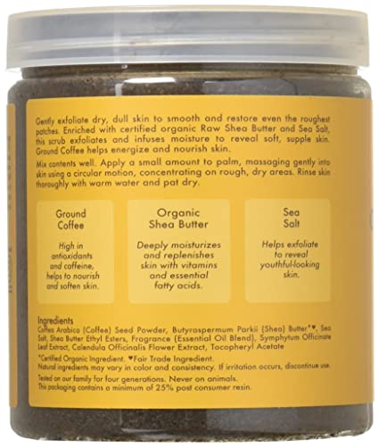 Shea Moisture Raw Shea Butter Ground Coffee Scrub By For Unisex 12