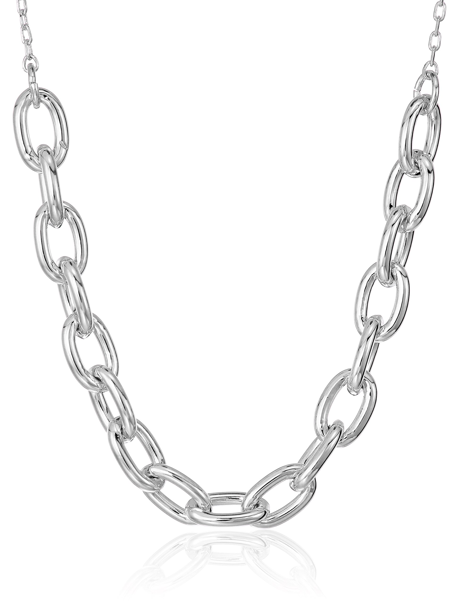 Kate Spade New York Womens Link Mini Necklace, Silver
