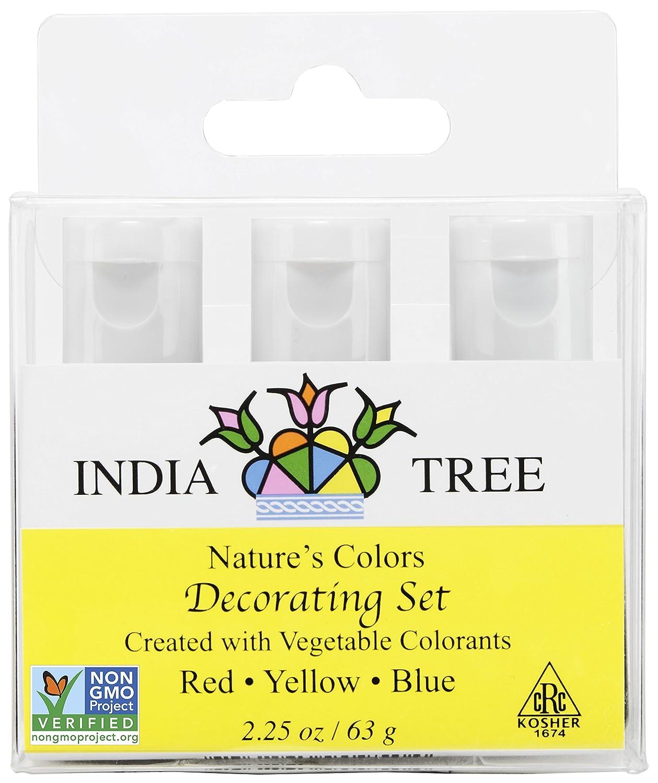 Amazon.com : India Tree Natural Decorating Colors Set, 3-Count 2.25 ...