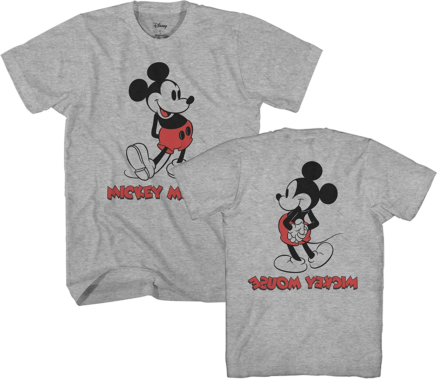 Disney Mickey Mouse Shirt Boys Expressions Classic Cartoon Character Kids Tee