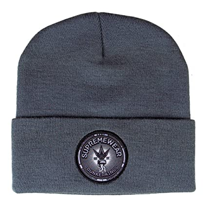 56aa8ef4938 Amazon.com   Bunker Kings Folded Beanie - Crown Patch Grey   Sports    Outdoors