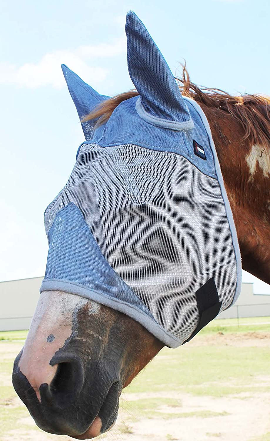 Challenger Horsewear Equine Horse Fly Mask Summer Spring Airflow Mesh UV Mosquitoes 73207