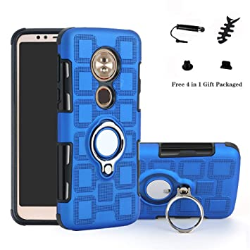 LFDZ Moto E5 Anillo Soporte Funda 360 Grados Giratorio Ring Grip con Gel TPU Case Carcasa Fundas para Motorola Moto E5 / G6 Play Smartphone(Not fit ...