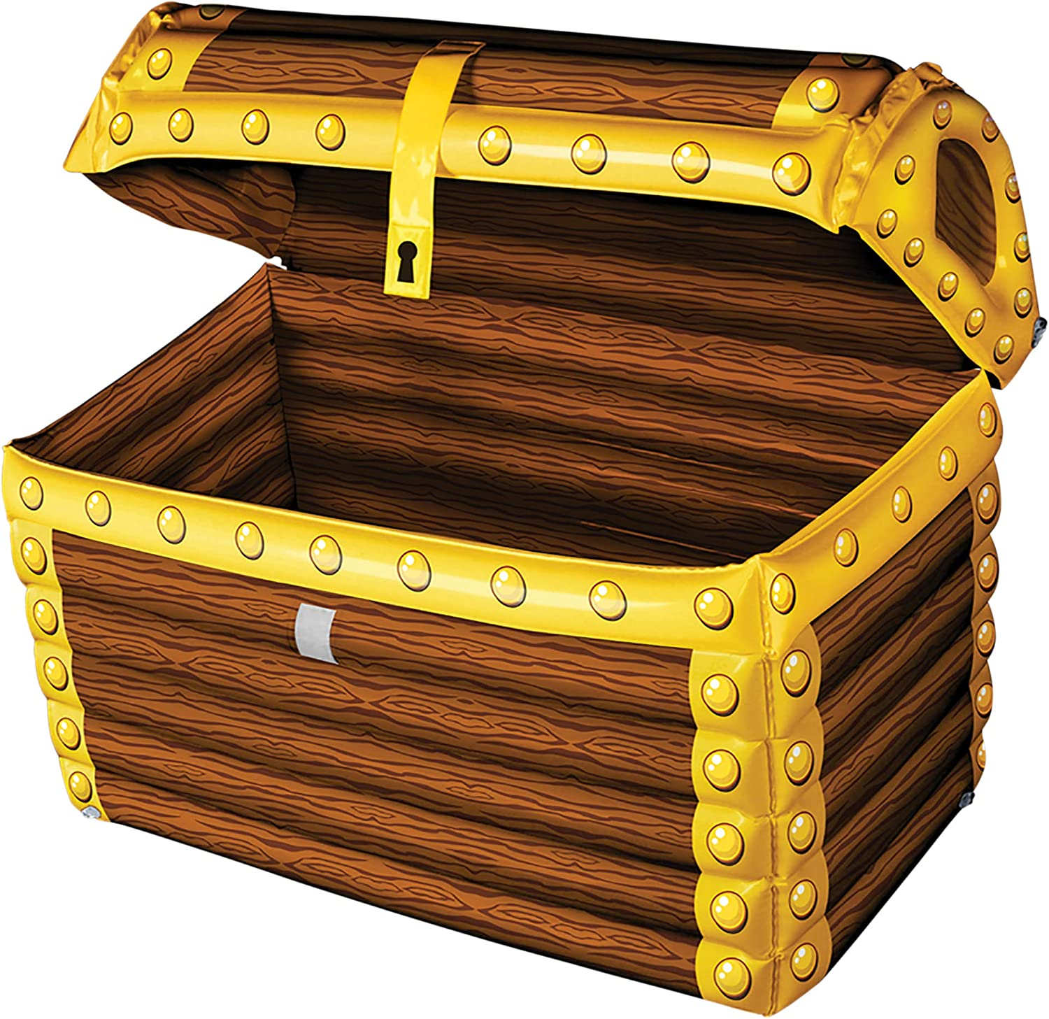 Windy City Novelties Blow Up Inflatable Pirate Treasure Chest Drink Cooler