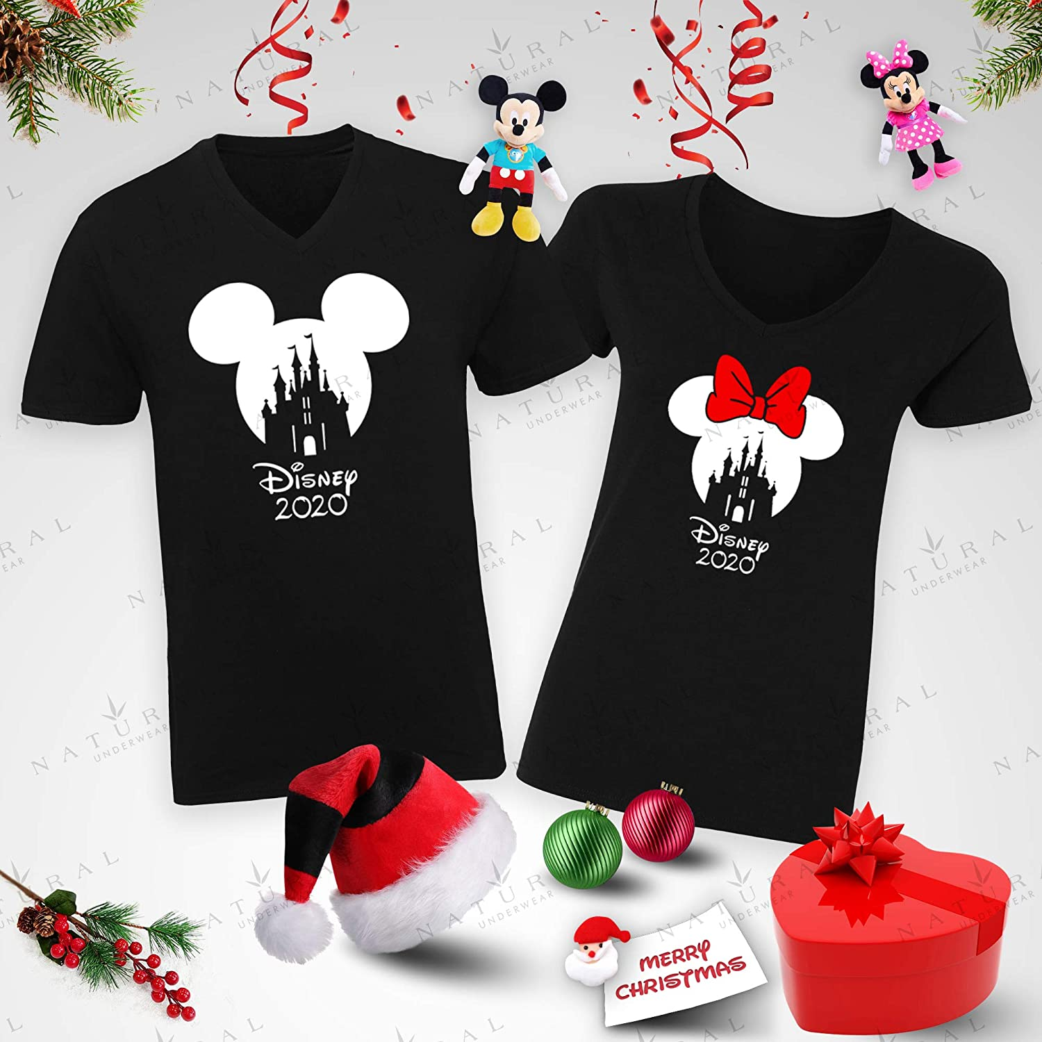 Natural Underwear Family Trip 2019 Mickey Minnie Mouse Magicland Matching Shirts