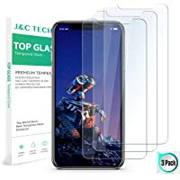 iPhone XS MAX Screen Protector(3 Pack, Clear) J&C TECH  iPhone Xs max Tempered Glass Screen Protector 99.9% Transparency 9H Hardness 6.5inch iPhone Xs Max Glass Screen Protector 2018
