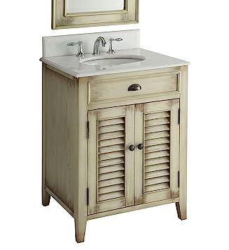 26u201d Cottage Look Abbeville Bathroom Sink Vanity Model CF28323