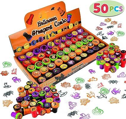 Amazon.com: Sellos surtidos de Halloween para niños, 50 ...