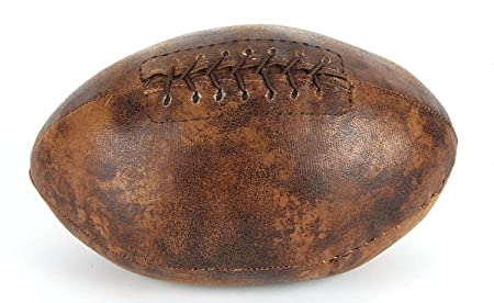 juliana home living door stop leather finish rugby ball