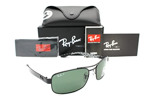 Ray-ban Sunglasses RB 8316 002/N5 62mm Black Carbon Fibre Crystal Green Polarized