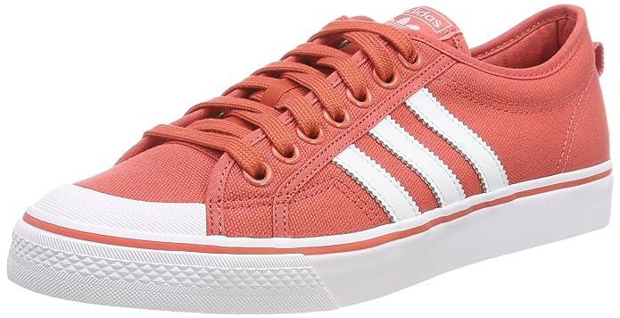 adidas Herren Nizza Sneaker Rot mit weißen Streifen