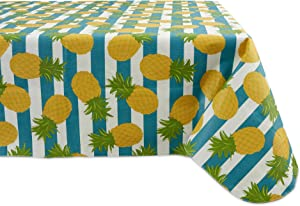 DII Tablecloth Vinyl Table Top, 60 x 84, Pineapple