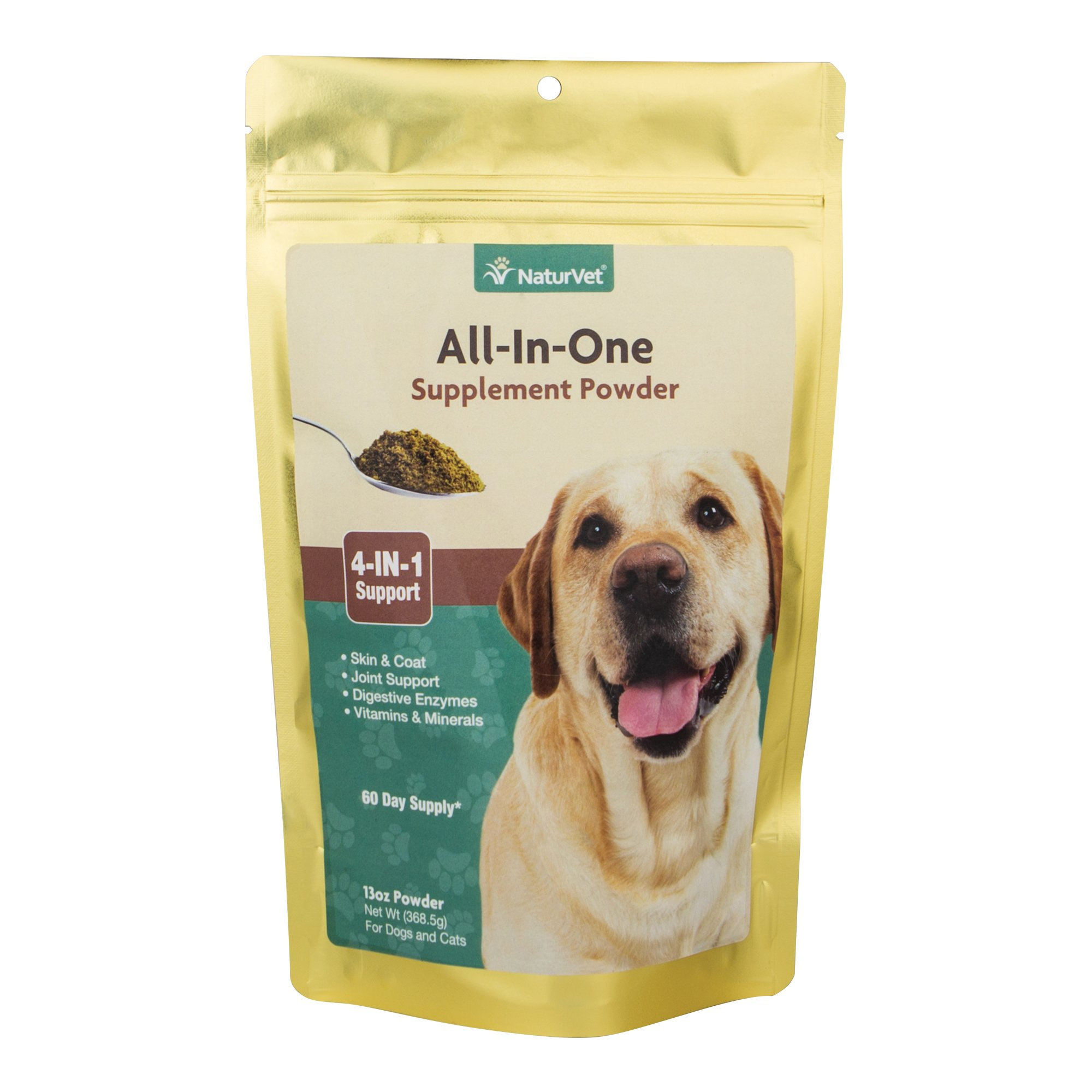 All-in-One Dog Powder Supplement, Skin & Coat Health, Joint Support, Digestive Health, Vitamin and Mineral Support, Overall Health Boost For Your Dog, Made by NaturVet