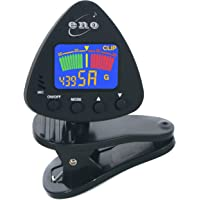 RockJam Eno Clip on Guitar Tuner Clip-on Tuner for Guitar, Ukulele, Bass, Violin, Chromatic Tuning,Large Clear Colorful LCD Display, battery included