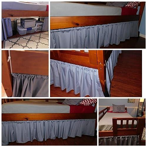 Amazon Com Dorm Bed Skirt Dust Ruffle Curtains Panels Bunk Beds