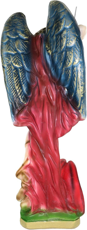 30 cm Ferrari /& Arrighetti Statua San Michele in Gesso Dipinta a Mano