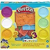 Conjunto Massinha e moldes Playdoh Números - Para crianças acima de 3 anos - E8533 - Hasbro