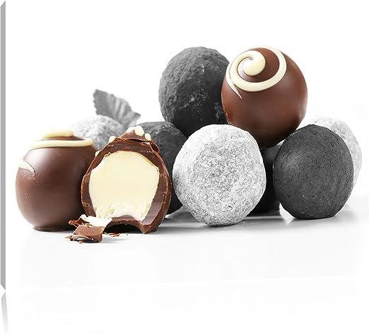 Pleasurable pelotas de trufas de Chocolate negro/blanco lienzo ...