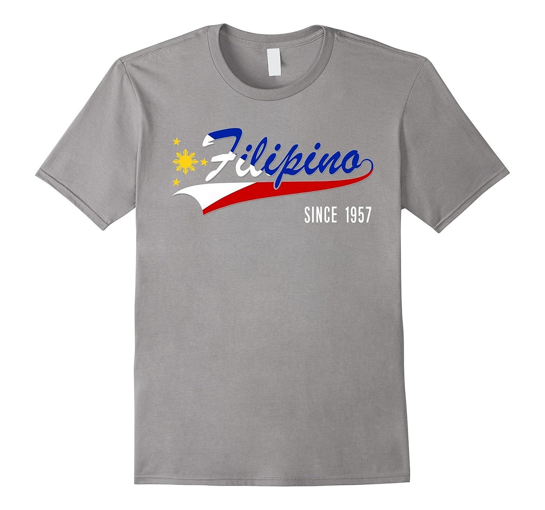 60th Birthday gift shirt Filipino since 1957 60 years old-Art