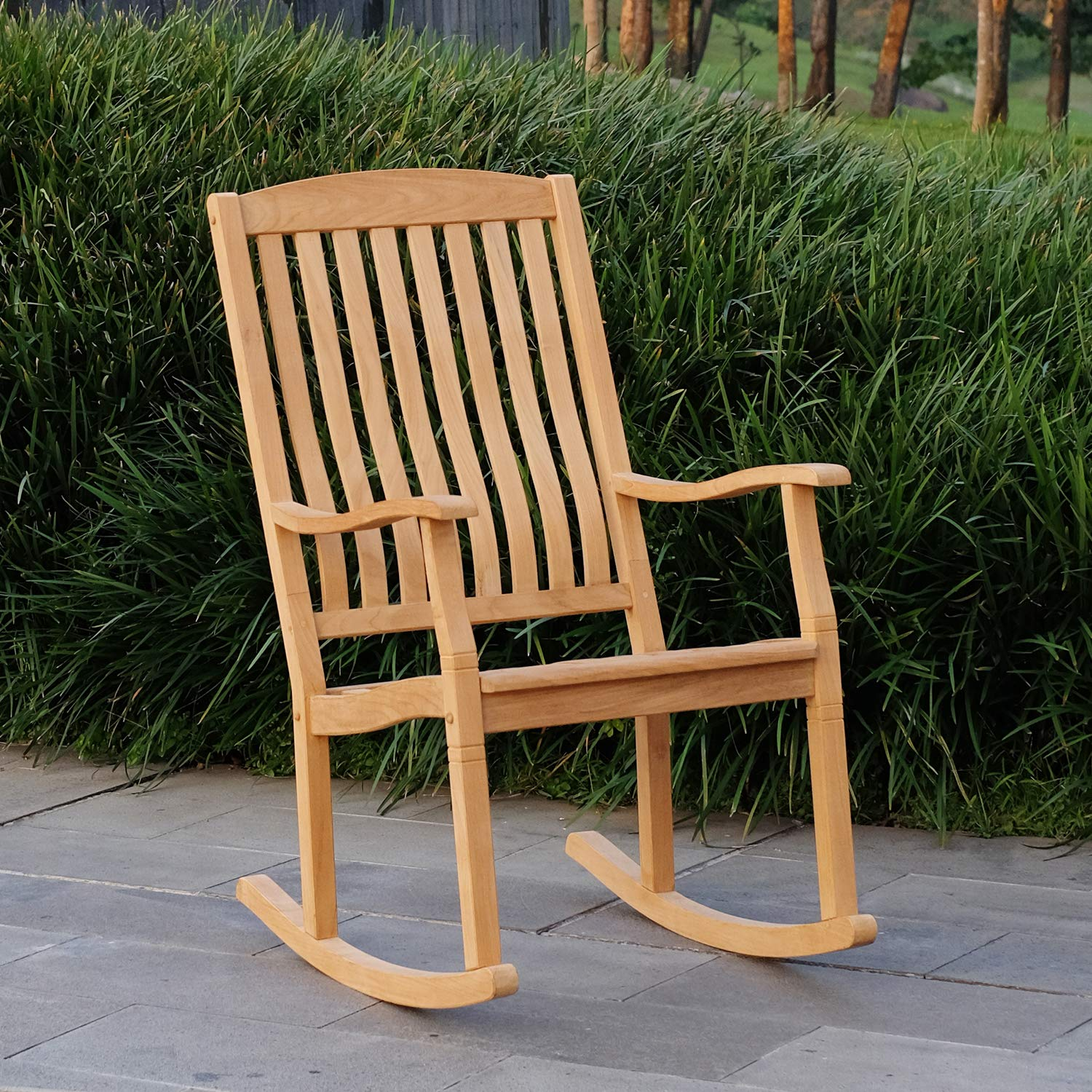Cambridge-Casual AMZ-130574T Arie Teak Rocking Chair