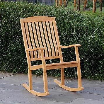Amazoncom Cambridge Casual Amz 130574t Arie Teak Rocking Chair