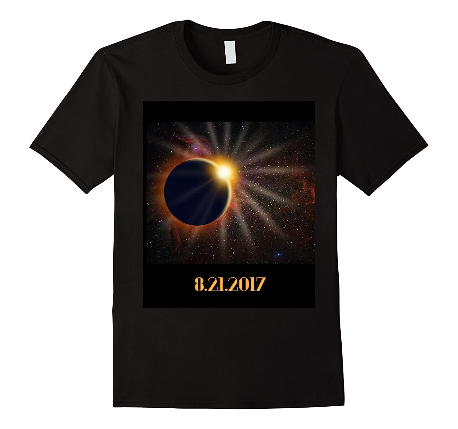 Total Solar Eclipse USA T-shirt - August 21, 2017-BN