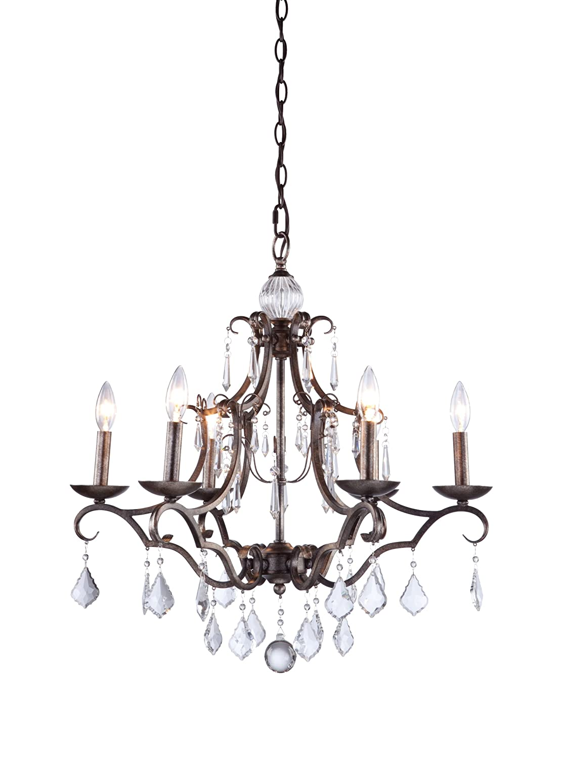Artcraft lighting vintage 6 light chandelier dark brown amazon mozeypictures Gallery