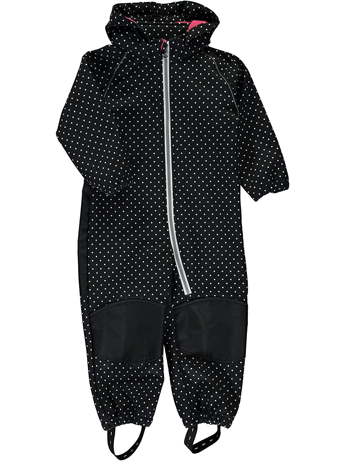 Name it NITALFA M SOFTSHL SUIT DOT BLACK Softshell-Overall für Mädchen