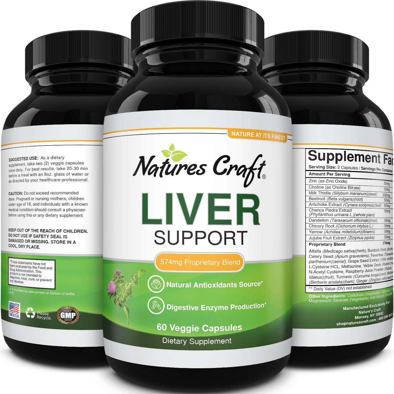 Milk Thistle Liver Detox Pills - Liver Support Supplement with Milk Thistle Dandelion Root Artichoke Extract - Liver Detox Supplement with Milk Thistle Liver Cleanse Detox