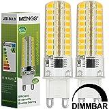MENGS® 2 Stück Dimmbar G9 LED Lampe 7W AC 220-240V Kaltweiß 6500K 72x2835 SMD Mit Silikon Mantel