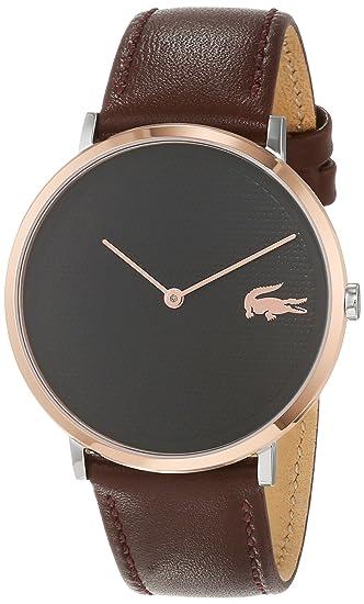 Lacoste Reloj Analógico para Hombre de Cuarzo con Correa en Cuero 2010952: Amazon.es: Relojes