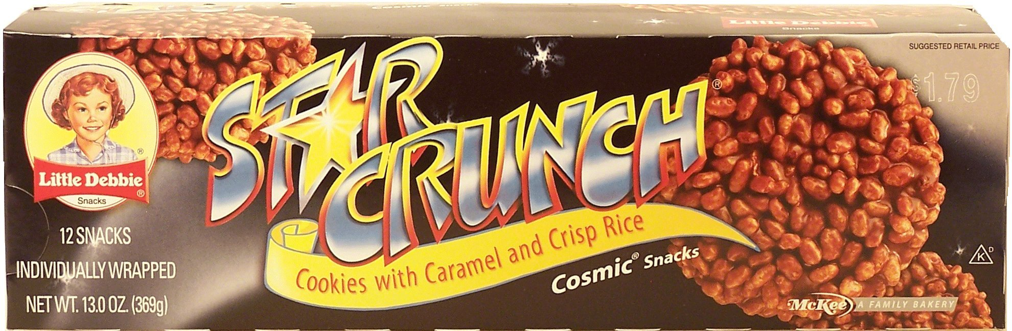 Little Debbie Snacks Star Crunch, 12-Count Box (CASE of 16 boxes)